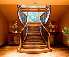 grand wood staircase